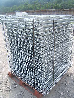 "Lot of 40 Ridgurak RUR Steel Decking Waterfall for 44"" Pallet Racks Racking"