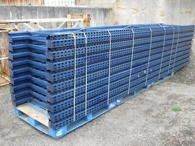 "17 sections 15'h x 42""d Teardrop Pallet Racks Racking 18 ups 88 beams 88 decks"