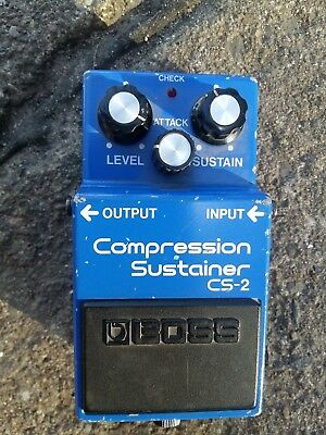 Boss cs-2 compression sustainerMade in Japan 80er RARE