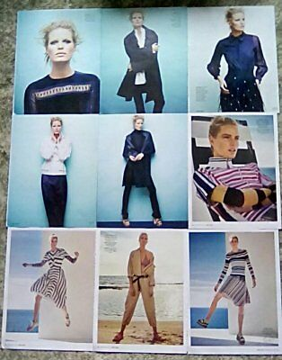 * RARE Caroline Winberg Clippings Pack 23 Full Pages Marie Claire Elle Red + *
