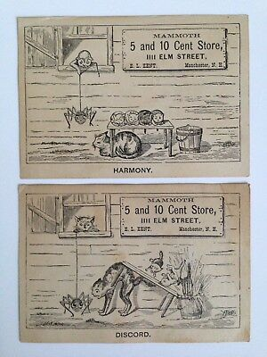 2 Advertising Trade Cards - Manchester, New Hampshire