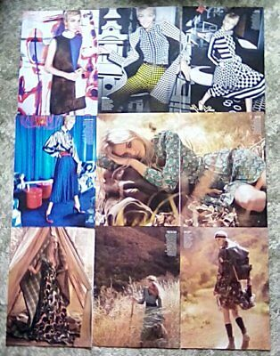 * Supermodel Caroline Trentini Clippings Pack 31 Full Page Vogue Photoshoots + *