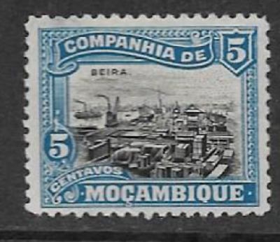 MOZAMBIQUE COMPANY POSTAL ISSUE - 1918 MINT DEFINITIVE - VIEW OF BIERA - 5 Mc