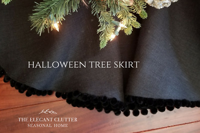 Halloween Tree Skirt, Fall, Christmas, New Years Decorations The elegant clutter