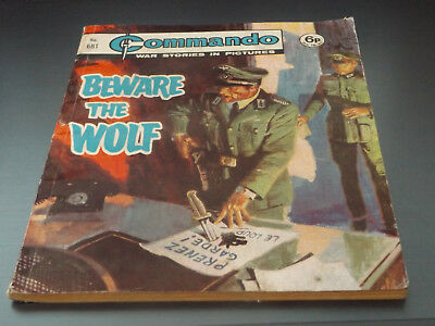 Commando War Comic Number 681!,1972 Issue,v Good For Age,46 Years Old,very Rare.
