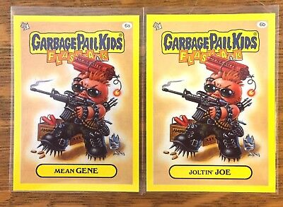 Garbage Pail Kids 2011 Flashback 3 lot of 2 Mean Gene 6a & Joltin' Joe 6b GPK
