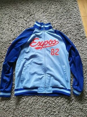 Montreal Expos Zip Up Top by Majestic (Cooperstown Collection) MLB Baseball