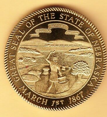 "Great Seal Of The State Of Nebraska.  March 1, 1876.  ""Equality Before The Law""."