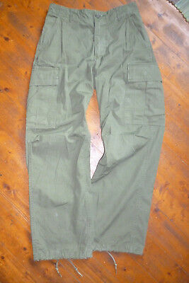 Orig US Army Vietnam Hose Trousers Small Regular Rip-Stop Cotton OG-107 DSA 1969