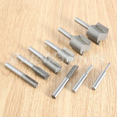 "1/4"" Shank Trim Chisel Cutter Straight Metric Template Router Bit Professional"