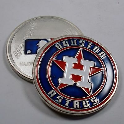 MLB Houston Astros Poker Chip Card Guard Challenge Coin Golf Marker Paper Weight