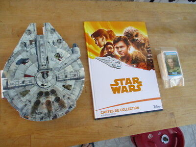 LOT Album Cartes Star Wars Leclerc Complet +FALCON  micropopzs star wars complet