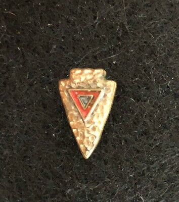 Vintage YMCA Young Mens Christian Assoc. Indian Guides Arrowhead Pin Pinback