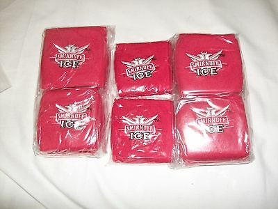 New 12 x Towelling Smirnoff Ice Wrist/Sweat Bands Pack A