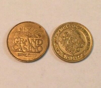 #4017 - Lot Of (2) Grand Casino Tokens - Mille Lacs Band Of Ojibwe - Mississippi