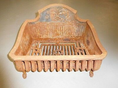 Antique Heavy Cast Iron Victorian Style Hearth/Fireplace Insert on Metal Wheels