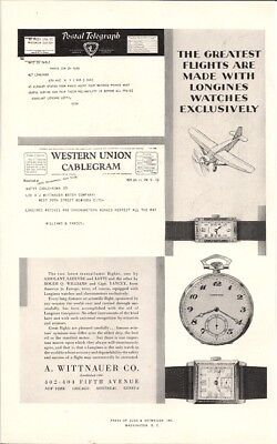 Longines Watches Greatest Flights Are Made With Them 1929 Vintage Ad