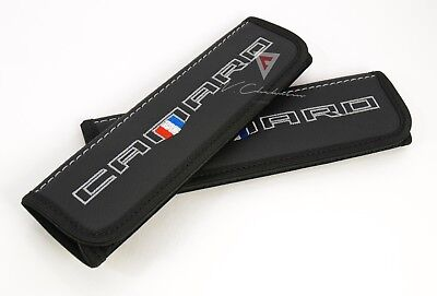 Car Seat Belt Shoulder Pads Covers for Chevrolet Camaro Colored Embroidery Logo