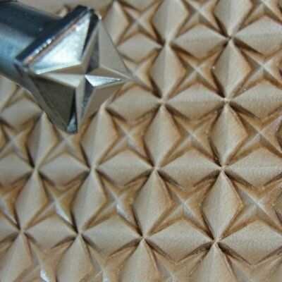 James Linnell - Large 4 Point Star Geometric Stamp (Leather Stamping Tool)
