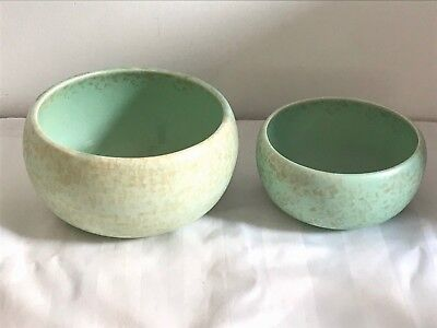 Shorter & Sons Two Vintage Bowls 1930s Green/Gold