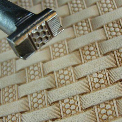 James Linnell - Honeycomb / Hex Basket Weave Stamp (Leather Stamping Tool)