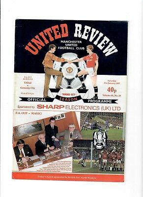 Manchester United v Coventry City (FA Cup R4)  - 31/01/1987