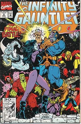 The Infinity Gauntlet #6 (Marvel Comics, 1991) NM - Thanos Nebula Avengers War