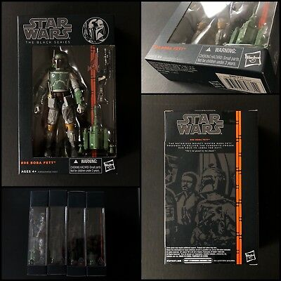 Star Wars- The Black Series- Boba Fett- 6inch- sealed- Mint- Top