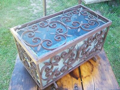 Wrought iron reclaimed Farriers Ornate Tool box or indoor planter