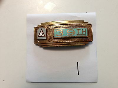 39Th Division Belt Buckle