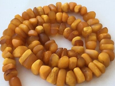RARE! Natural Antique Baltic Vintage  OLD Amber   BEADS Necklace  41 gr