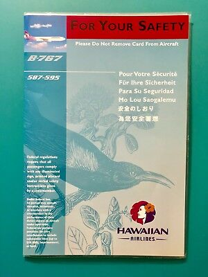 Hawaiian Airlines Safety Card -- 767 Plane #587-595