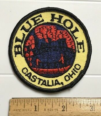 Blue Hole Castalia Ohio OH Tourist Attraction Roadside Embroidered Round Patch