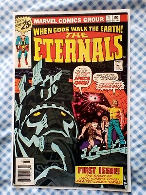 Eternals 1 (1976) Jack Kirby art, Origin and 1st appearance