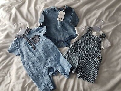 Brand New With Tag Threes Baby Boy;s Clothes Up To 3 Months