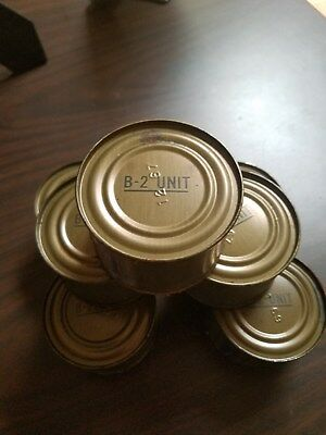 c-rations, 7 cans of the B-2 Unit, not opened!