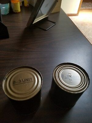 c-rations, 2 B-3 units from the vintage c-rations, circa 1967