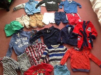 Boys Clothes Bundle 3-4 Years, 23 items, shorts, t-shirts, jumpers
