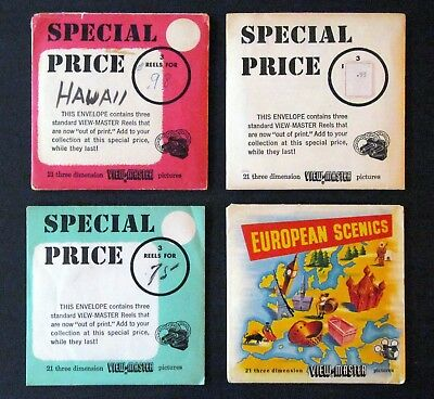 Viewmaster - 4 Special Price Packets