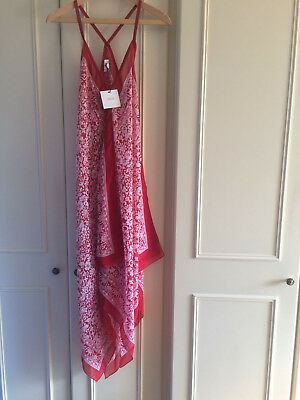 ASOS Maternity Floral Scarf Print Maxi Summer Dress ~12 UK ~ Red/White LAST ONE