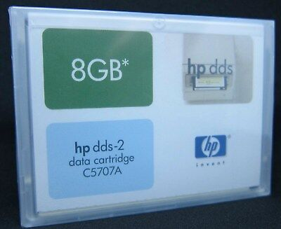 10 Stück HP DDS-2 Data Cartridge C5707A 8GB 120 Meter OVP