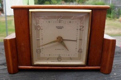 Vintage Smiths Empire Art Deco Miniature/Mantle Piece Clock Dressing Table Clock