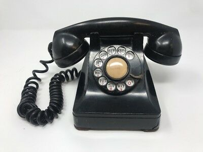 Western Electric Bell System Black Rotary Desk Telephone