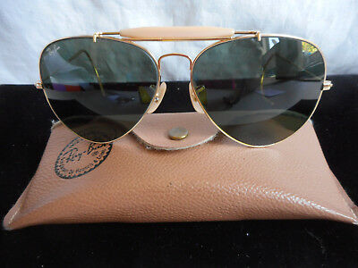 Vintage Ray-Ban Aviator Sunglasses 100% UV by Bausch & Lomb W/ Case 62 14