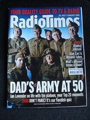 """Used Souvenir Copy of Radio Times """"Dad's Army at 50"""" issue 28 July to 3 August"""