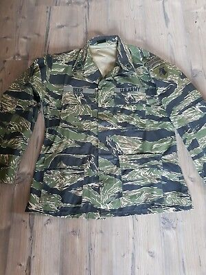 US Vietnam Tigerstripe, BDU Jacke mit Patches, Large Long! Top Zustand! Rip...