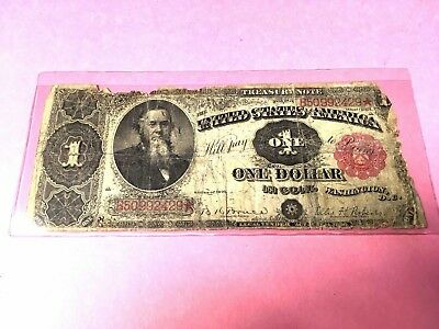 Affordable Genuine 1891 _$1 Dollar_ Bruce/ Roberts _Treasury Note