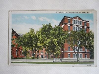 Masonic  Home For The Aged Guthrie Oklahoma  Postcard OK