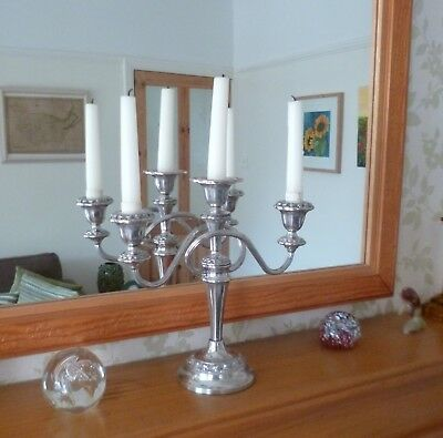 Superb Large Vintage 1950's Silver Plated Candleabra Candleabrum
