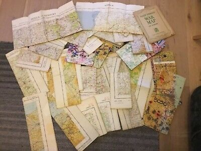 Ordnance Survey OS War Office & Air Ministry Map 1940s/50s/60s - Approx 35 maps
